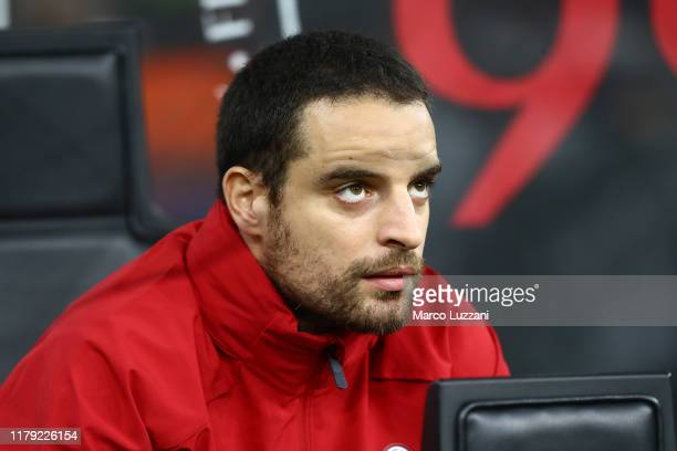 Giacomo Bonaventura of AC Milan looks on before the Serie A match between AC Milan and SPAL at Stadio Giuseppe Meazza on October 31, 2019 in Milan,...