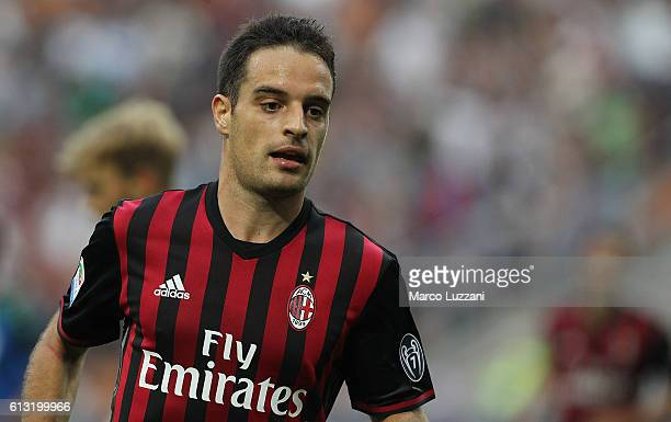 Giacomo Bonaventura of AC Milan looks on during the Serie A match between AC Milan and US Sassuolo at Stadio Giuseppe Meazza on October 2 2016 in...