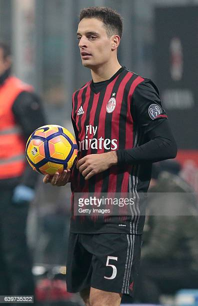 Giacomo Bonaventura of AC Milan looks on during the Serie A match between AC Milan and SSC Napoli at Stadio Giuseppe Meazza on January 21 2017 in...