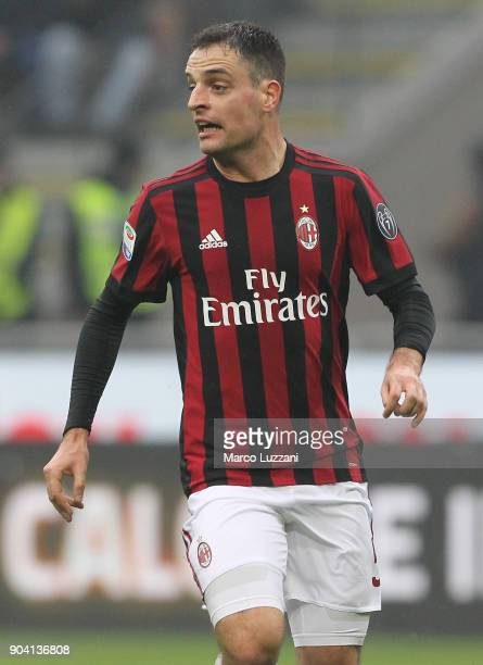 Giacomo Bonaventura of AC Milan looks on during the serie A match between AC Milan and FC Crotone at Stadio Giuseppe Meazza on January 6 2018 in...