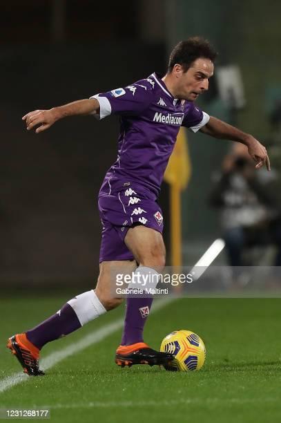 Giacomo Bonaventura of ACF Fiorentina in action during the Serie A match between ACF Fiorentina and Spezia Calcio at Stadio Artemio Franchi on...