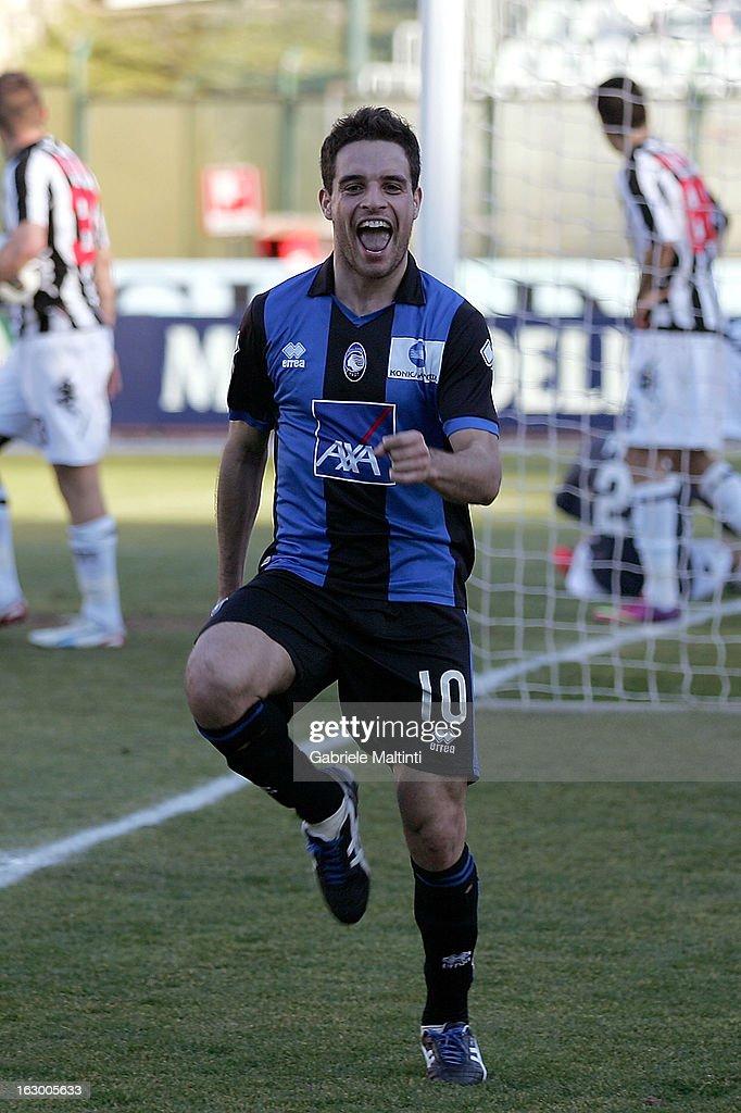 Giacomo Bonaventura of Atalanta BC celebrates after scoring a goal during the Serie A match between AC Siena and Atalanta BC at Stadio Artemio Franchi on March 3, 2013 in Siena, Italy.