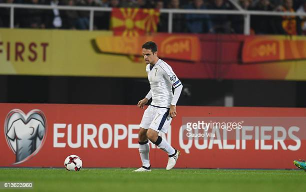 Giacomo Bonaventura of Italy in action during the FIFA 2018 World Cup Qualifier between FYR Macedonia and Italy at Nacionalna Arena Filip II...