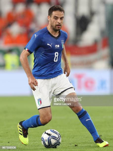 Giacomo Bonaventura of Italy in action during the International Friendly match between Italy and Netherlands at Allianz Stadium on June 4 2018 in...