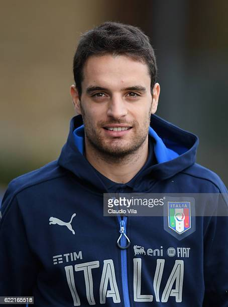 Giacomo Bonaventura of Italy looks on during the training session at the club's training ground at Coverciano on November 10 2016 in Florence Italy