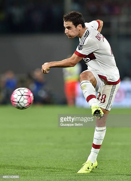 Giacomo Bonaventura of Milan in action during the Serie A match between ACF Fiorentina and AC Milan at Stadio Artemio Franchi on August 23 2015 in...