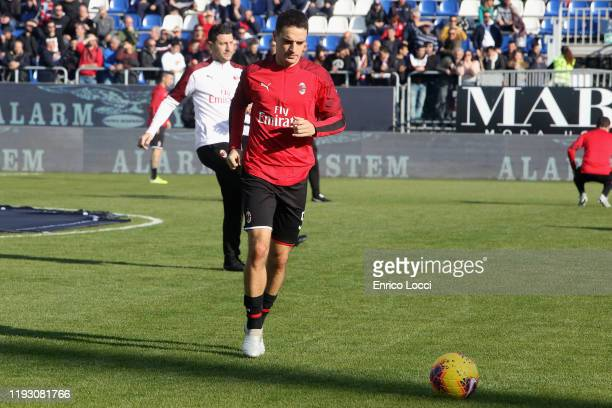 Giacomo Bonaventura of Milan in action during the Serie A match between Cagliari Calcio and AC Milan at Sardegna Arena on January 11, 2020 in...