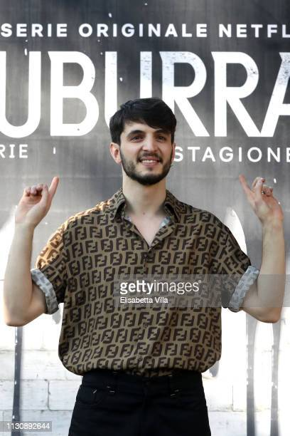 Giacomo Ferrara attends a photocall for Netflix 'Suburra' The Series season 2 at Casa del Cinema on February 20 2019 in Rome Italy