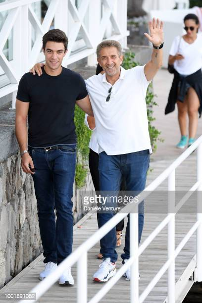 Giacomo Greggio and Ezio Greggio attends 2018 Ischia Global Film Music Fest on July 19 2018 in Ischia Italy