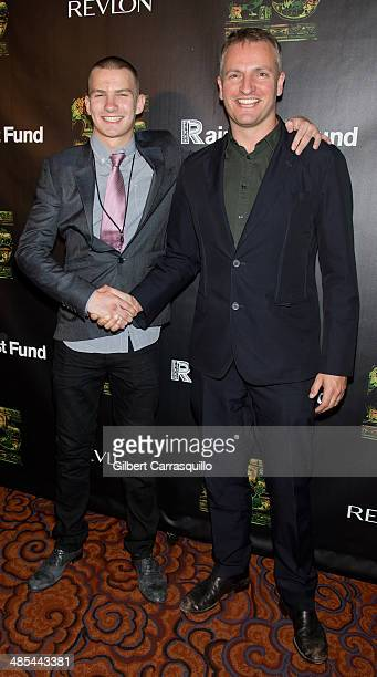 Giacomo Luke Sumner and Joseph Sumner attend the after party for the 25th Anniversary concert for the Rainforest Fund at Mandarin Oriental Hotel on...