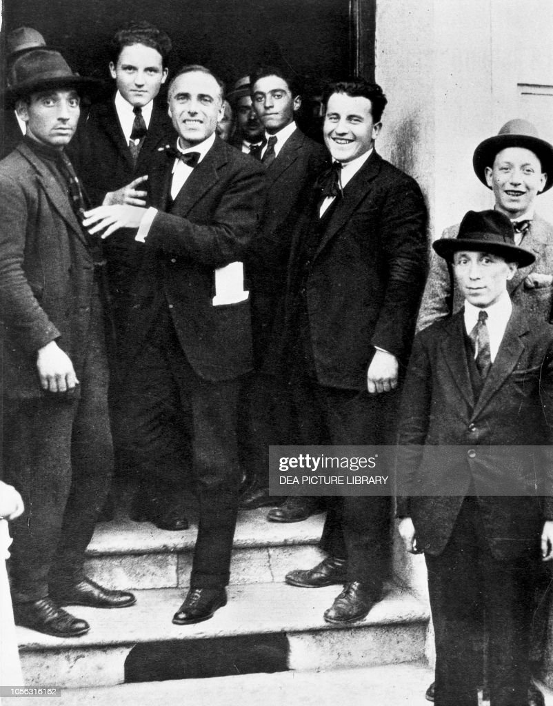 Giacomo Matteotti with some members of the PSI a few days before his...  News Photo - Getty Images