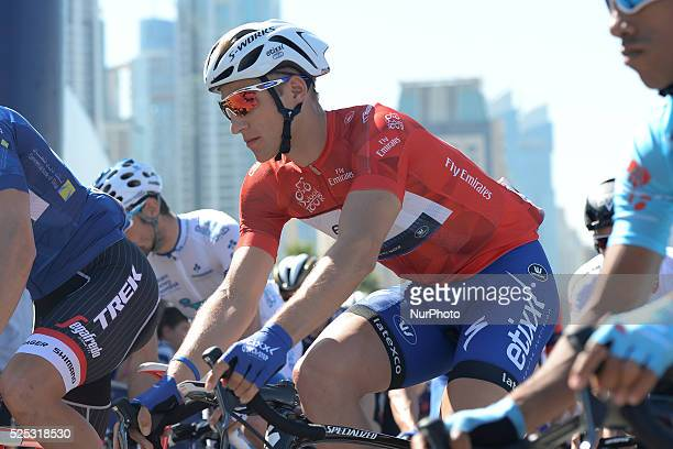 Giacomo Nizzolo and Marcel Kittel at the start of the final fourth stage of the 2016 Tour of Dubai the 137km Business Bay Stage going through the Old...