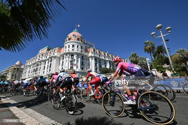 Giacomo Nizzolo of Italy and NTT Pro Cycling Team / Tejay Van Garderen of The United States and Team EF Pro Cycling / Le Negresco Hotel / Nice City /...