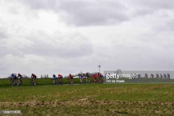 Giacomo Nizzolo of Italy and Team NTT Pro Cycling / John Degenkolb of Germany and Team Lotto Soudal / Owain Doull of The United Kingdom and Team...