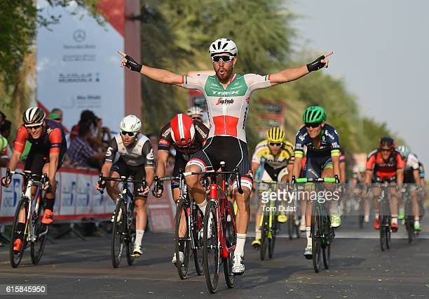 Giacomo Nizzolo of Italy and Trek Segafredo wins stage one of the 2016 Abu Dhabi Tour on October 20, 2016 in Abu Dhabi, United Arab Emirates.