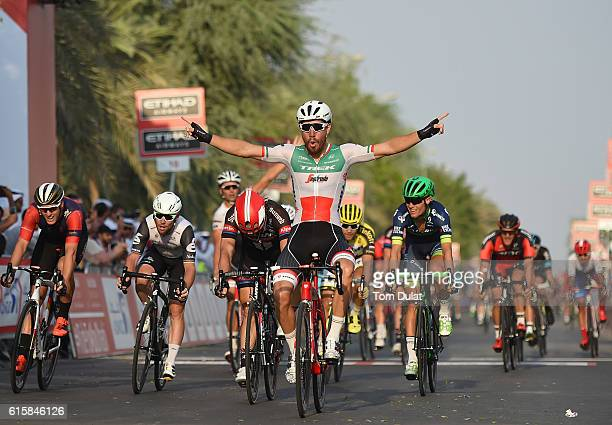 Giacomo Nizzolo of Italy and Trek Segafredo wins stage one of the 2016 Abu Dhabi Tour on October 20, 2016 in Abu Dhabi, United Arab Emirates.