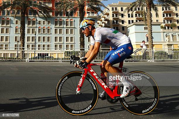 Giacomo Nizzolo of Italy rides during the Elite Men's Road Race on day eight of the UCI Road World Championships on October 16 2016 in Doha Qatar