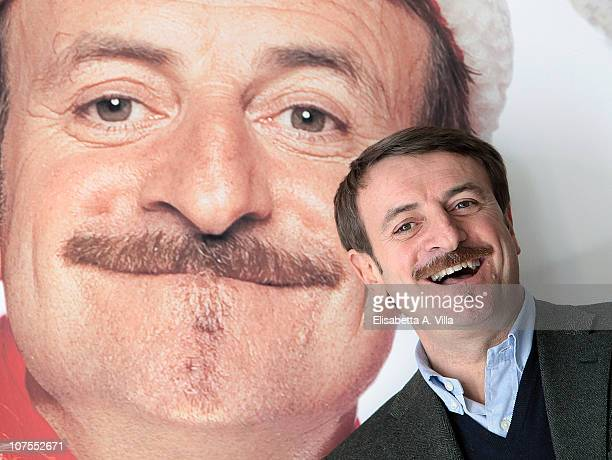 Giacomo Poretti attends La Banda Dei Babbi Natale photocall at the Adriano Cinema on December 13 2010 in Rome Italy