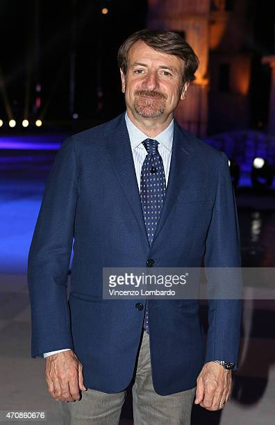 Giacomo Poretti attends the 'Io Leggo Perche'' Photocall on April 23 2015 in Milan Italy