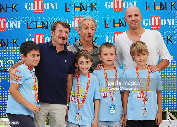 Giacomo Poretti, Giovanni Storti and Aldo Baglio known as attend the 2011 Giffoni Experience on July 15, 2011 in Giffoni Valle Piana, Italy.
