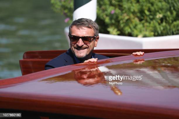 Giacomo Poretti is seen during the 75th Venice Film Festival on September 6 2018 in Venice Italy