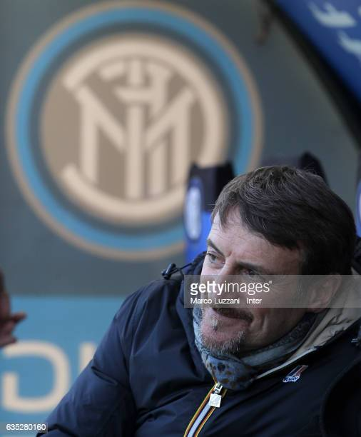 Giacomo Poretti looks on during the FC Internazionale training session at the club's training ground Suning Training Center in memory of Angelo...