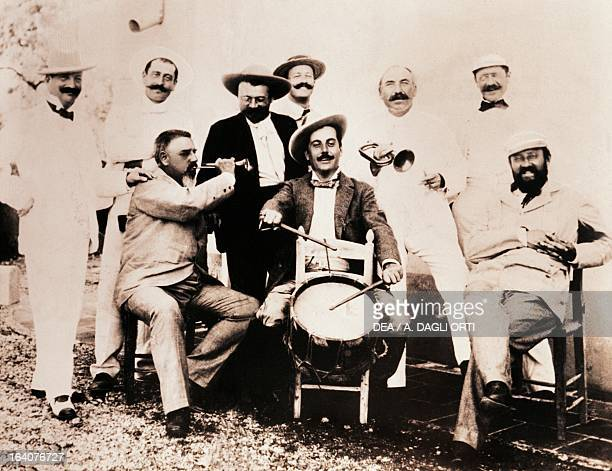 Giacomo Puccini at the opening of hunting season 1897 Torre Del Lago Puccini Museo Villa Puccini