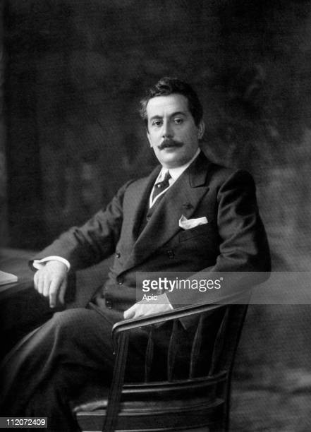 Giacomo Puccini italian composer, photo by Boisonnas and Taponier 1907.