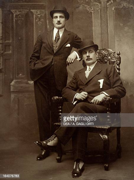 Giacomo Puccini with his son Antonio