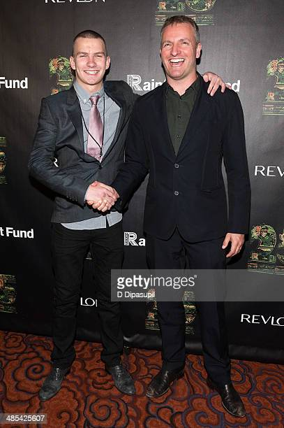 Giacomo Sumner and Joe Sumner attend the after party for the 25th Anniversary concert for the Rainforest Fund at the Mandarin Oriental Hotel on April...
