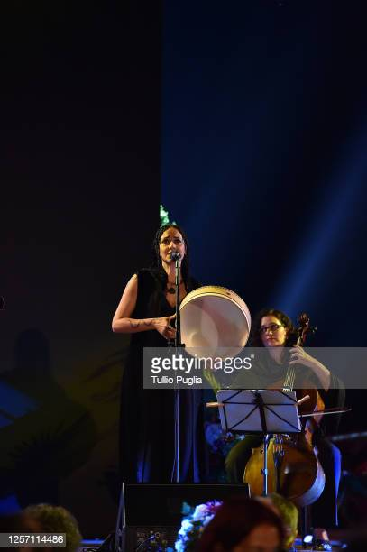 Giada Colagrande and The Magic Door perform during the closing night of the Taormina Film Festival on July 19 2020 in Taormina Italy