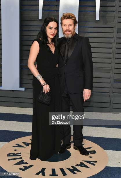 Giada Colagrande and Willem Dafoe attend the 2018 Vanity Fair Oscar Party hosted by Radhika Jones at Wallis Annenberg Center for the Performing Arts...