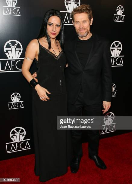 Giada Colagrande and Willem Dafoe attend the 43rd Annual Los Angeles Film Critics Association Awards on January 13 2018 in Hollywood California