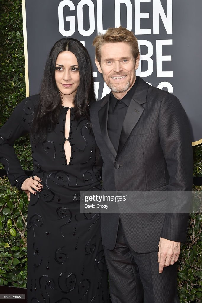 Giada Colagrande and Willem Dafoe attend the 75th Annual Golden Globe Awards - Arrivals at The Beverly Hilton Hotel on January 7, 2018 in Beverly Hills, California.