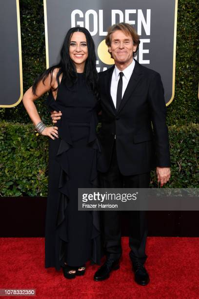 Giada Colagrande and Willem Dafoe attend the 76th Annual Golden Globe Awards at The Beverly Hilton Hotel on January 6 2019 in Beverly Hills California