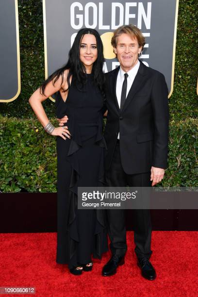 Giada Colagrande and Willem Dafoe attend the 76th Annual Golden Globe Awards held at The Beverly Hilton Hotel on January 06 2019 in Beverly Hills...