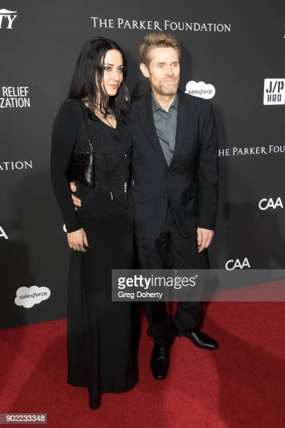 Giada Colagrande and Willem Dafoe attend the SEAN PENN J/P HRO GALA A Gala Dinner to Benefit J/P Haitian Relief Organization and a Coalition of...