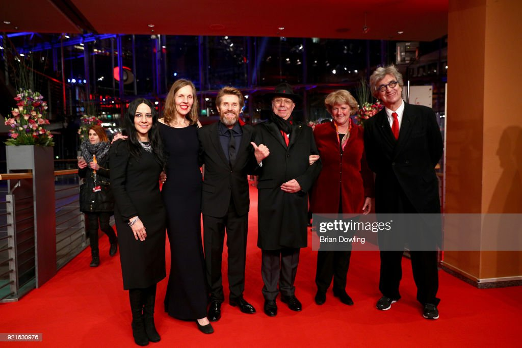 Giada Colagrande, Donata Wenders, Willem Dafoe, festival director Dieter Kosslick, minister of State and Federal Government Commissioner for Culture and the Media, Monika Gruetters and Wim Wenders attend the Homage Willem Dafoe - Honorary Golden Bear award ceremony and 'The Hunter' screening during the 68th Berlinale International Film Festival Berlin at Berlinale Palast on February 20, 2018 in Berlin, Germany.