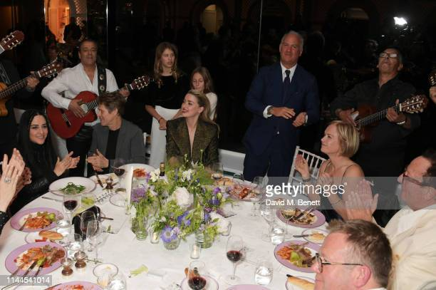 Giada Colagrande Willem Dafoe Amber Heard CEO of Finch Partners Charles Finch Mariella Frostrup and Lord Maurice Saatchi attend the 10th Annual...