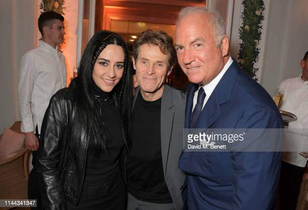 Giada Colagrande Willem Dafoe and CEO of Finch Partners Charles Finch attend the 10th Annual Filmmakers Dinner hosted by Charles Finch Edward...