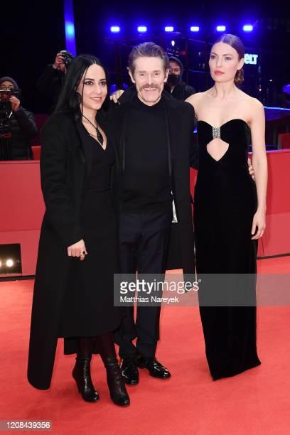 Giada Colagrande Willem Dafoe and Cristina Chiriac pose at the Siberia premiere during the 70th Berlinale International Film Festival Berlin at...