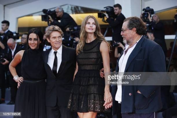 Giada Colagrande Willem Dafoe Louise Kugelberg and Julian Schnabel walk the red carpet ahead of the Award Ceremony during the 75th Venice Film...