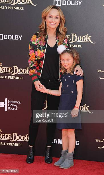 Giada De Laurentiis and daughter Jade Thompson arrive at the Los Angeles Premiere The Jungle Book at the El Capitan Theatre on April 4 2016 in...
