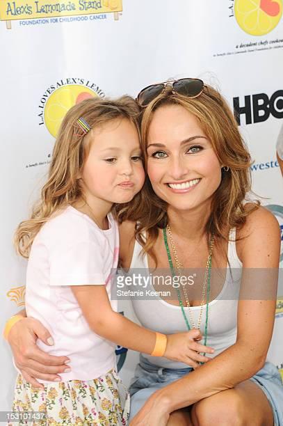 Giada De Laurentiis and daughter Jade Thompson attend LA Loves Alex's Lemonade At Culver Studios at Culver Studios on September 29 2012 in Culver...