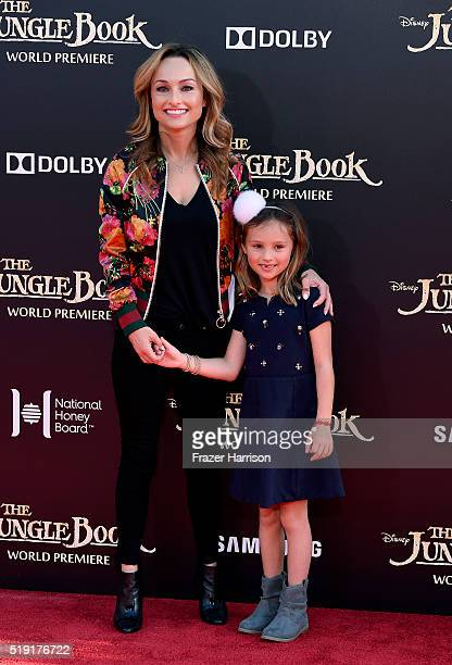 Giada De Laurentiis and daughter Jade Thompson attend the premiere of Disney's The Jungle Book at the El Capitan Theatre on April 4 2016 in Hollywood...
