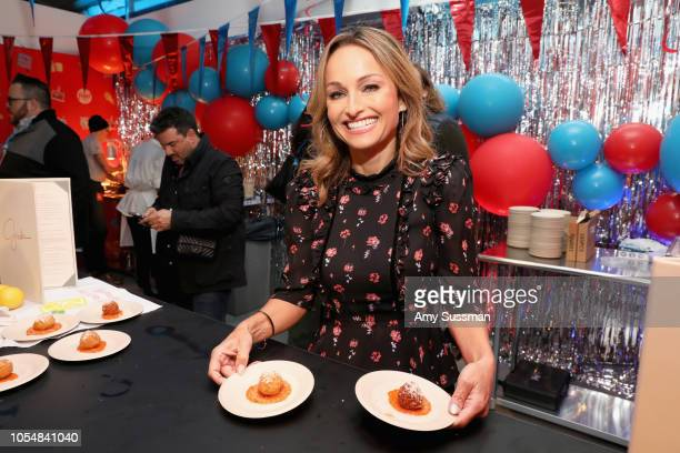 Giada De Laurentiis attends Food Network's 25th Birthday Party Celebration at the 11th annual New York City Wine Food Festival at Pier 92 on October...
