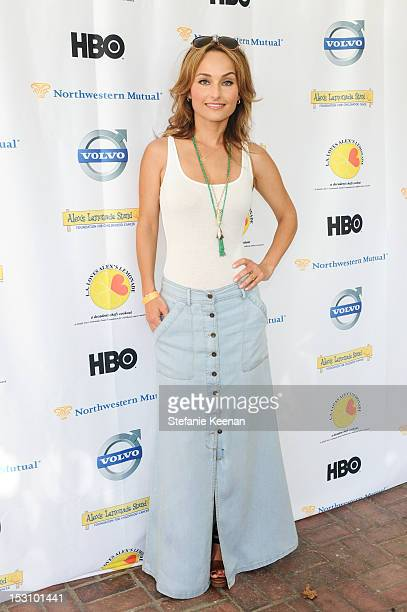 Giada De Laurentiis attends LA Loves Alex's Lemonade At Culver Studios at Culver Studios on September 29 2012 in Culver City California