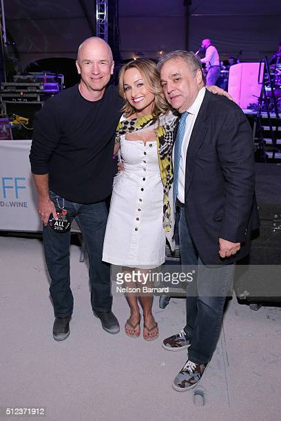 Giada De Laurentiis Founder and director of the South Beach Wine Food Festival and vice president of Southern Wine Spirits Lee Schrager and guest...