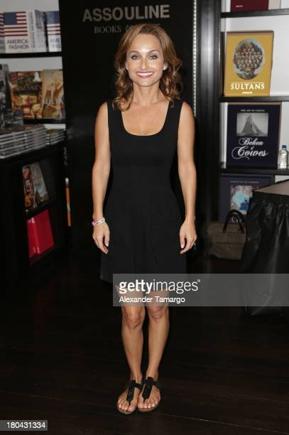 Giada de Laurentiis greets fans and signs copies of her book 'Recipe For Adventure Naples' on September 12 2013 in Miami Beach Florida