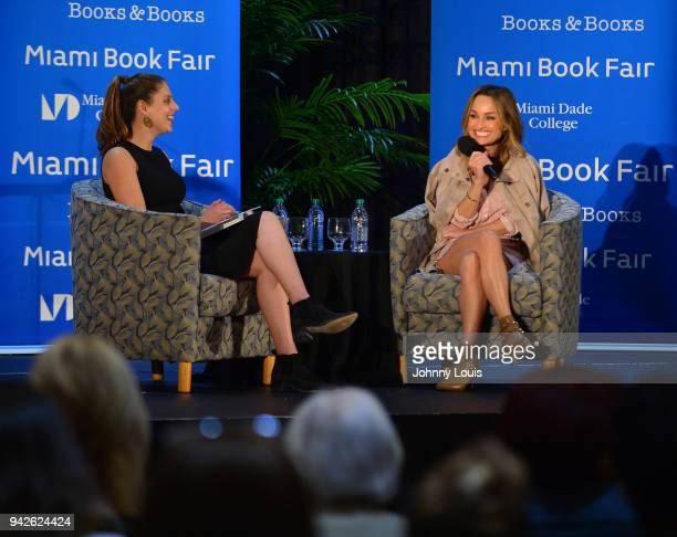 Giada De Laurentiis In Conversation With Della Heiman and signing copies of her new book ' Giadas Italy My Recipes for La Dolce Vita ' at Miami Dade...